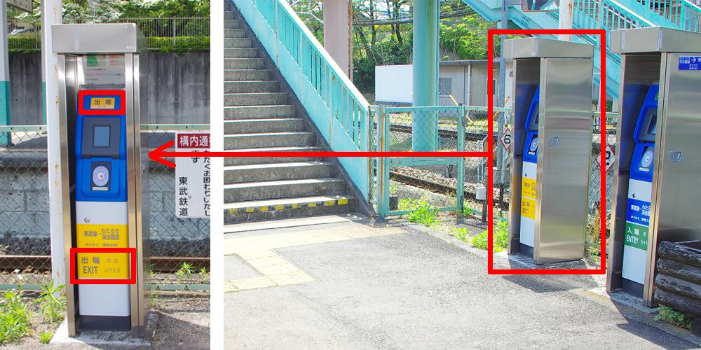 相老駅の「出場用」簡易改札機